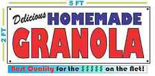 HOMEMADE GRANOLA BANNER Sign NEW Larger Size Best Quality for the $$$ BAKERY