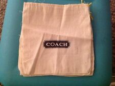 """COACH Linen Dust Bag Cover Drawstring  7"""" X 7.5"""" Rare Old Style"""