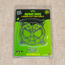 Mutant Mods Spider 80mm Silver Chrome Laser Cut Fan Grill Guard
