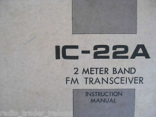 ICOM-22A (GENUINE INSTRUCTION MANUAL ONLY)..........RADIO_TRADER_IRELAND.
