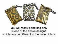 Animal Design Fold Up Shopping Bag In Pouch With Clip Attachment - ONE AT RANDOM