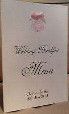 10 x Handmade Personalised Wedding Table Menu Booklets Cards - Vintage Motif