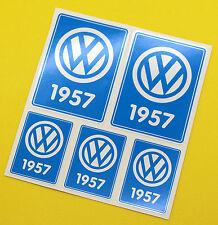 VW 1957 VOLKSWAGEN Year Date stickers INSIDE GLASS BEETLE SPLIT SCREEN CAMPER