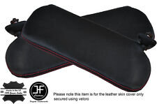 RED STITCH 2X SUN VISORS LEATHER COVERS FITS CAMARO FIREBIRD 1982-1993