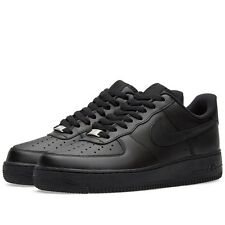 Nike Air Force 1 '07 Mens 315122-001 Black Leather Low Sneakers Shoes Size 13