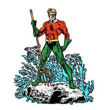 Aquaman Classic Super Friends Show Justice League Hero DC Iron-On Applique Patch