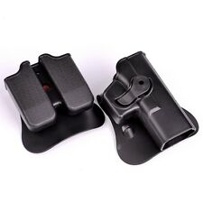 For Glock 17 19 22 23 31 IMI Belt Holster Double Mag Pouches Tactical Combat