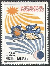 Italy 1967 Stamp Day/Carrier Pigeon/Sun/Moon/Stamp/Birds/Animation 1v (n41694)
