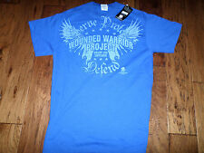 U.S MILITARY WOUNDED WARRIOR PROJECT T-SHIRT BLUE SIZE LARGE