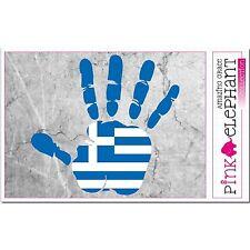 Griechenland - Hand Palm Finger Print Aufkleber Flag Sticker Motiv Greece Greek