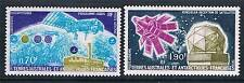 French Antarctic/TAAF 1979 Satelite Research  SG 128/9 MNH