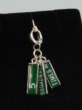 Fossil Brand Stainless NYC Street Signs Broadway Times Sq Bracelet Charm JF00301