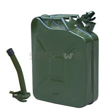 Jerry Can 20L 5 Gallon -Backup Steel Tank Fuel Gas Gasoline Military Green Color