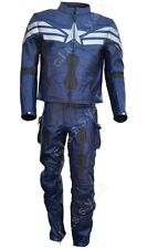 Classyak Captain America Motorbike Real Cow Leather Costume, High Quality. Xs-5x