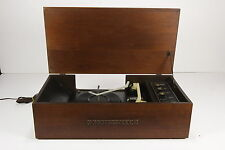 Decca Stereo Record Player Turntable The Dade 1 Walnut Cabinet DP-496