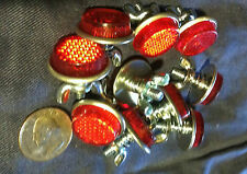 10 VINTAGE BICYCLE RED  REFLECTOR WHIZZER WESTERN HUFFY