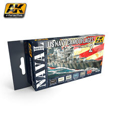AK Interactive AK5020 US Navy Camouflage Color Set 2 -  6x17ml