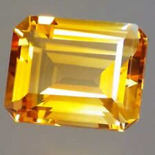 IMPERIAL CITRINE-BRAZIL 9.40Ct FLAWLESS-BRIGHT YELLOW ORANGE-PRECISION FACETING!