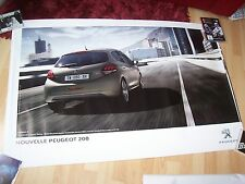Affiche officielle / Showroom poster PEUGEOT 208 Phase 2 2015 //