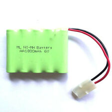 6V 1800mAh 5x AA Ni-MH RC Rechargeable Battery Pack for Car Toys w/ Tamiya Plug