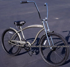 "Micargi Rover GT for men's 26"" 1-speed Beach Cruiser Bike Chopper Fork mat.gry"