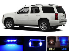 Blue White Vanity / Sun visor LED light Bulbs for Chevrolet Chevy Tahoe (4 Pcs)