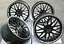 "20"" cruize 190 roues en alliage deep dish black polished low offset 20 pouces jantes en alliage"
