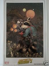 SDCC Comic Con 2014 Handout MARVEL NOW Rocket Raccoon #1 art print by Peterson