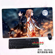 Anime Sword Art Online SAO Kirito Big Mouse Pad Play mat GAME mat Mousepad #N7-3