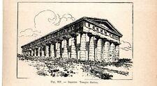 Stampa antica SEGESTA Tempio Dorico Calatafimi Trapani Sicilia 1910 Old print