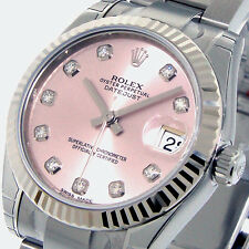 ROLEX DATEJUST 178274 MID SIZE 31 mm STEEL OYSTER BRACELET PINK DIAMOND DIAL
