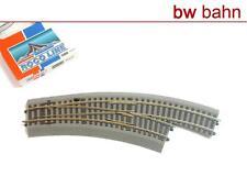 Roco Line H0 42557 mit Bettung - Bogenweiche rechts BWr 2/3 mit Handantrieb Neu