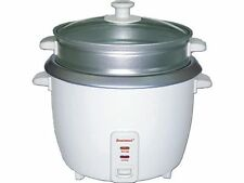 Brentwood TS-180S 8 Cup - 1.5 Liter - Rice Cooker with Steamer - White Body