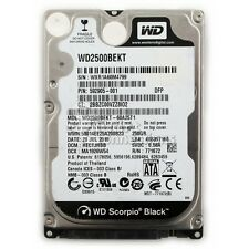 "Western Digital Scorpio Black 2.5"" 250 GB Internal Hard Drive 7200RPM WD2500BEKT"