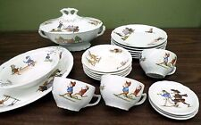 Palmer Cox BROWNIES Childs Dish Tea Set Cup Plate Bowl Tureen c1900 Taylor Smith