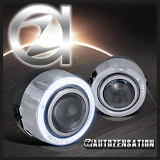 """4"""" LED 7 Color Halo Angel Eye Projector Fog Lights Driving Lamps Pair"""
