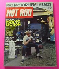 HOT ROD MAGAZINE MARCH/1973...RAT MOTOR HEMI HEADS...16-PAGE HOW-TO SECTION