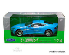 "Welly Aston Martin Vanquish 1:24 scale 8"" diecast model car Blue W210"