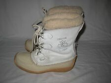SOREL CHUGALUG Womens White Winter Snow Boots CANADA Size 8