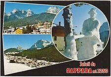 SAPPADA IL TAGLIA LEGNA - SCULTURA DI NEVE (BELLUNO) 1993