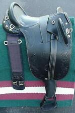 "17"" NEW BLACK LEATHER AUSTRALIAN STOCK  ENDURANCE SADDLE PACKAGE WITH OUT HORN"