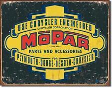 Chrysler Mopar 1937 - 1947 Vintage Style Werkstatt Händler Metall Schild