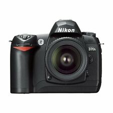 Nikon D70S 6.1MP Digital SLR Camera Kit With 18-70MM Nikkor Lens Black Very Good