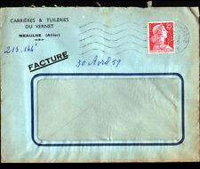 MEAULNE (03) CARRIERES & TUILERIE du VERNET / TUILES , Voyagée 1959