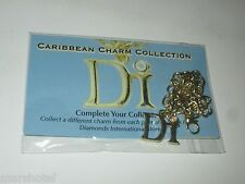 "NCL NORWEGIAN CRUISE LINE GOLD-TONE DIAMONDS INTERNATIONAL 7"" CHARM BRACELET DI"