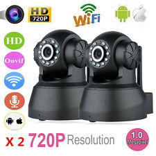 2x Wireless 720P Pan Tilt WiFi IP Network Camera Security IR Night Vision Webcam