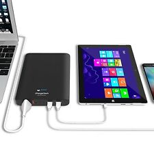 ChargeTech - 27000mAh Portable AC Battery Pack w/ AC Plug Outlet & USB Ports ...