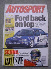 Autosport (26 Aug 1993) Ayrton Senna, Brands Hatch BTCC, Racing Alfas,Pembrey F3