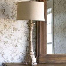 FRENCH COUNTRY CANDLESTICK COLUMN TABLE LAMP