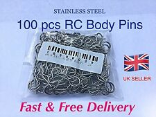 100 x RC  BODY CLIPS , TAMIYA, NIKKO, KYOSHO HSP ETC. ****STAINLESS STEEL****